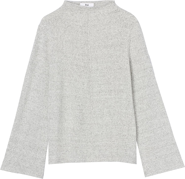 find Brand Womens Super Soft High Neck Sweatshirt