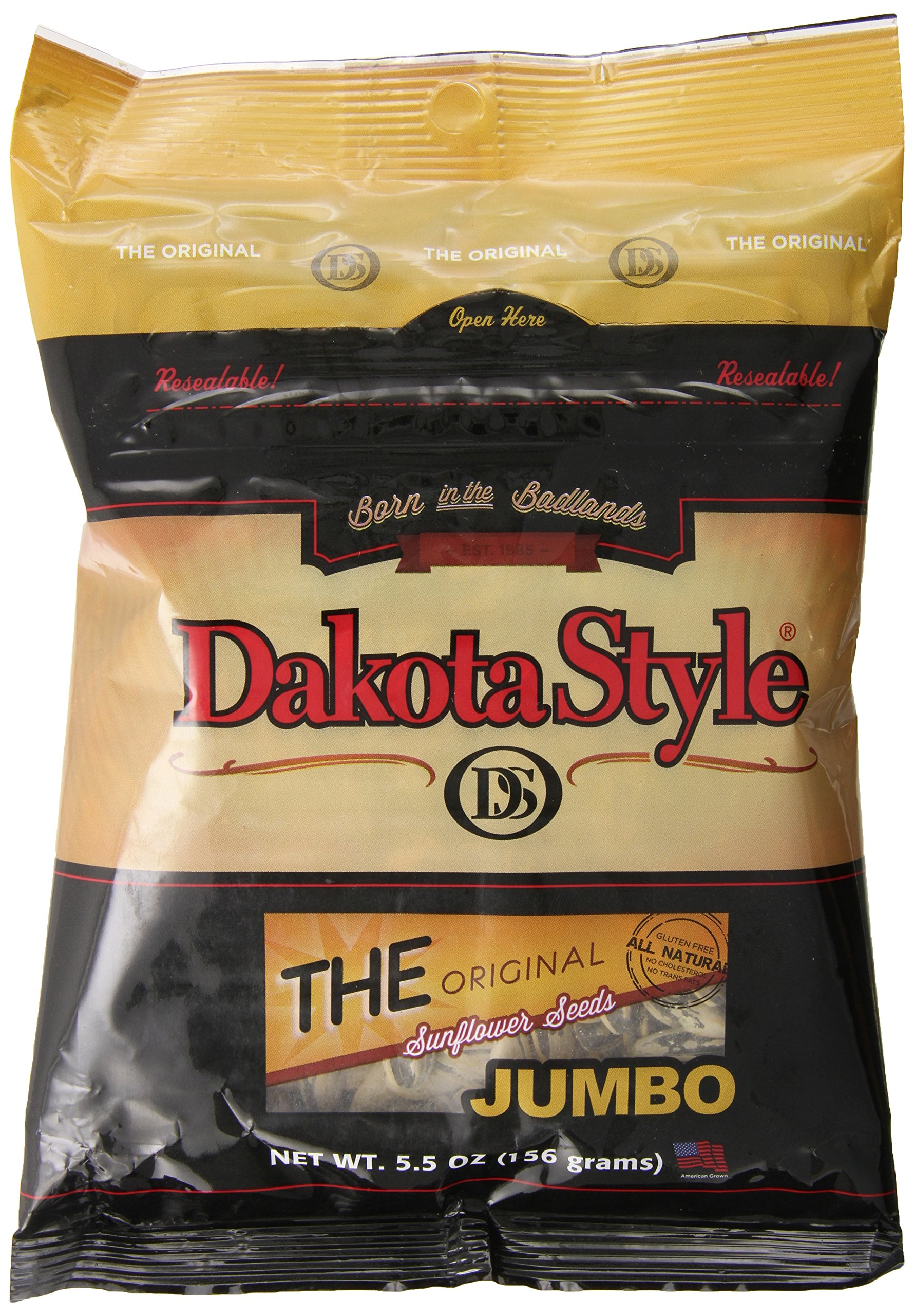Dakota Style Original Jumbo In-Shell Sunflower Seeds, 5.5 Ounce (Pack of 12)