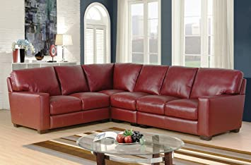 Pleasant Sc Furniture Ltd Burgundy Red High Grade Top Italian Leather Corner Sofa Suite Right Hand Facing Lucera Right Hand Facing Machost Co Dining Chair Design Ideas Machostcouk