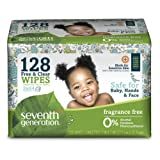 Amazon Price History for:Seventh Generation Free & clear baby wipes, 128ct tape closure