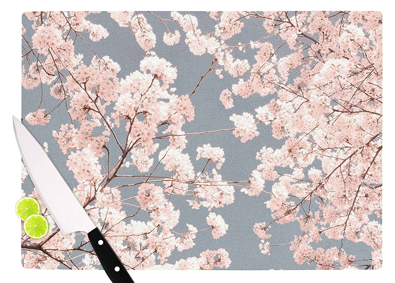 Multicolor KESS InHouse Iris LehnhardtRosy Sky Pink Floral Cutting Board 11.5 x 15.75