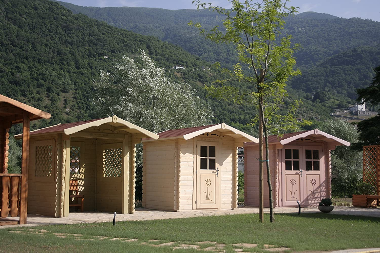 La Pratolina Casita de Madera 2 x 2 jardín, Caseta Herramientas, diseño Rural, Casa Juegos Niños: Amazon.es: Hogar