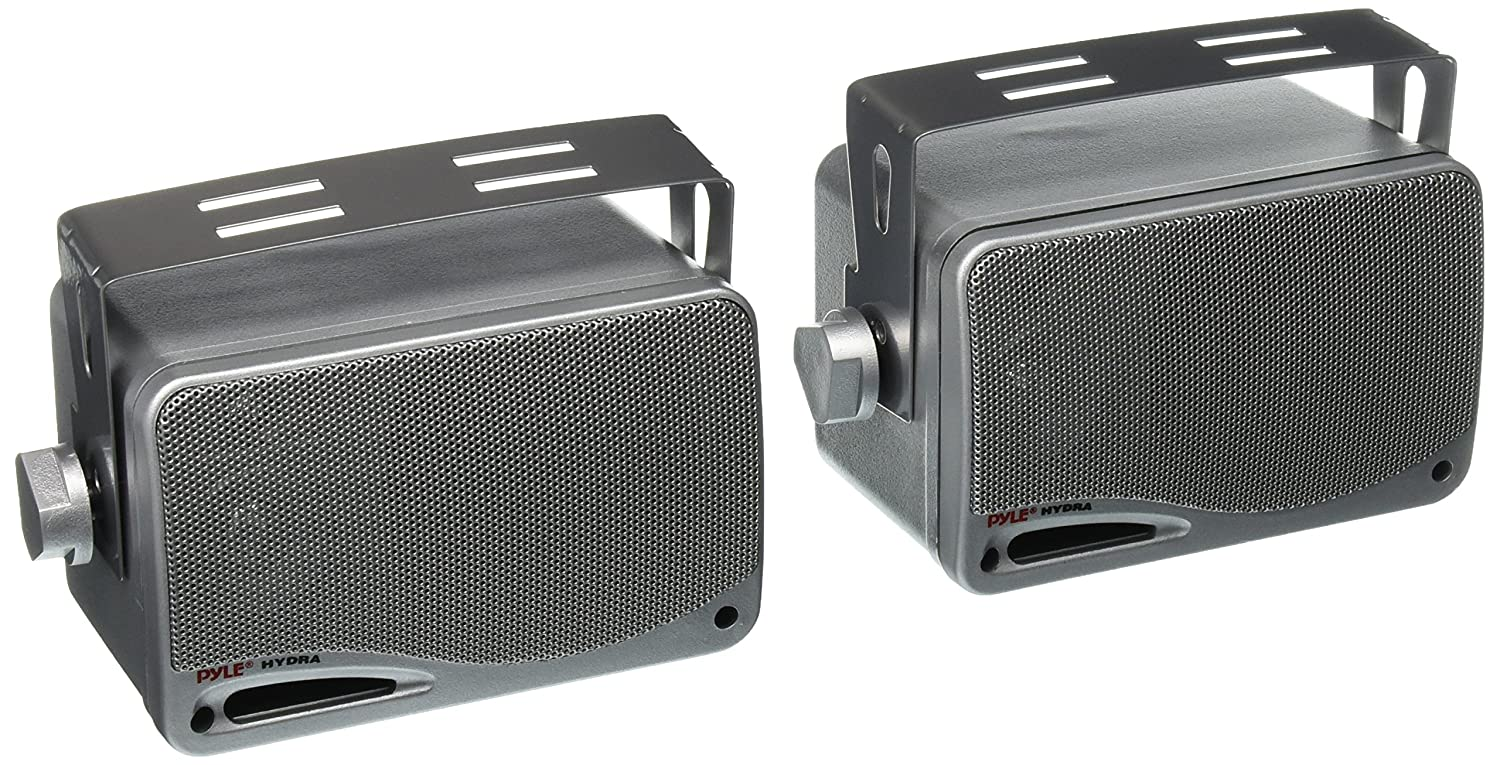 Pyle 3.5-Inch 200W 3-Way Weather Proof Mini Box Speaker System PLMR24B (Black) Sound Around