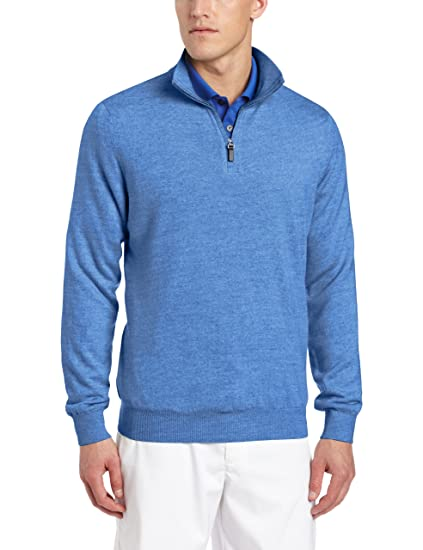 2a3dbb4944e Amazon.com  Fairway   Greene Men s Merino Long Sleeve 1 4 Zip Golf ...