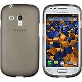 mumbi TPU Schutzhülle für Samsung Galaxy S3 mini Hülle schwarz halbtransparent