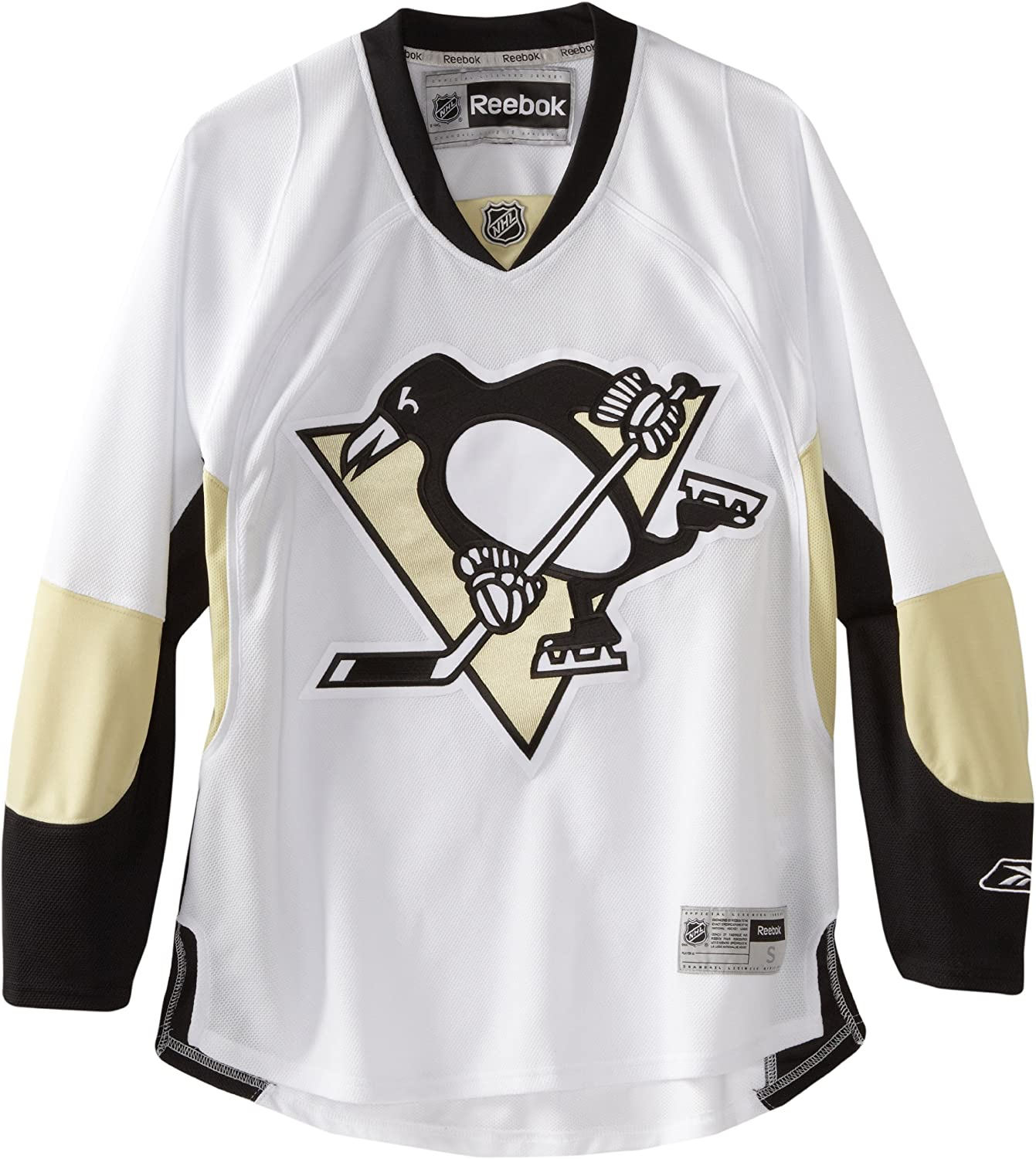 NHL Pittsburgh Penguins Premier Jersey、ブラック/ホワイト/ゴールド  X-Large