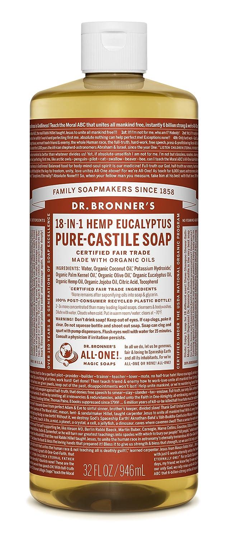 Dr. Bronner's Pure-Castile Liquid Soap - Peppermint 32oz. Liberty Mountain Sports LIB371511