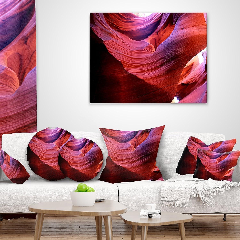 Designart CU8800-18-18 Antelope Canyon Light Rays Landscape Photography Throw Pillow 18 x 18