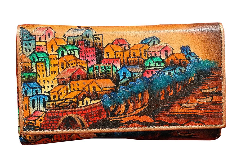 Pueblo Niarvi Sisley marrón pintado a mano Monedero: Amazon ...
