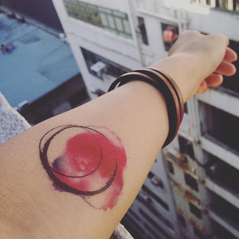 Tatuaje Temporal de Círculo de acuarela (2 Piezas) - www.ohmytat ...