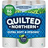 Quilted Northern Ultra Soft and Strong Earth-Friendly Toilet Paper, 24 Mega Rolls = 96 Regular Rolls, 328 2-Ply Sheets…