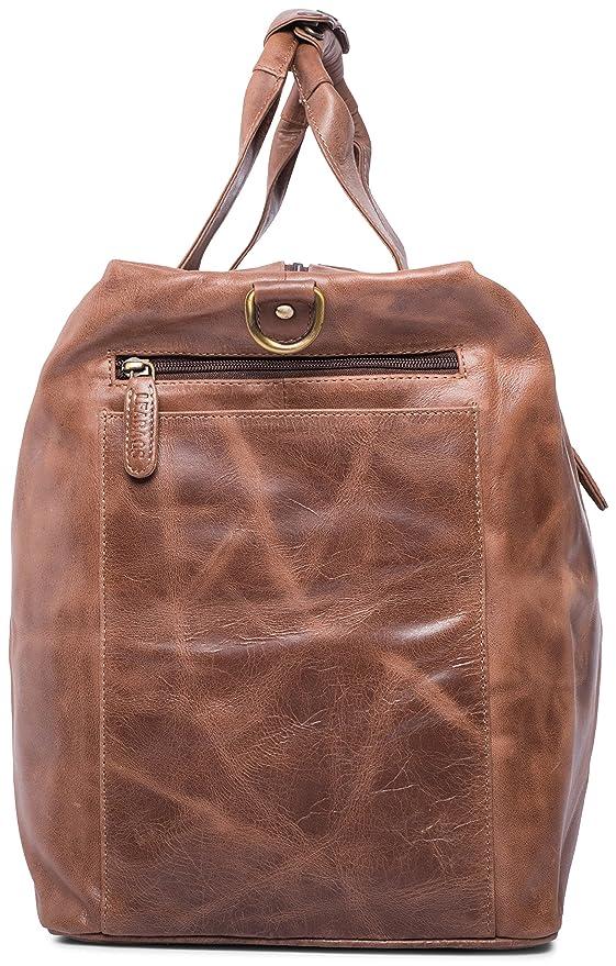 LEABAGS Sydney sac de voyage rétro-vintage en véritable cuir de buffle - OnyxBlack hjkdugHMg1