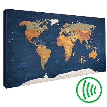 Perfekt Decomonkey | Akustikbild 90x60 Cm Pinnwand Weltkarte | Leinwand |  Wandbilder Als Korktafel | Korkwand Nutzbar
