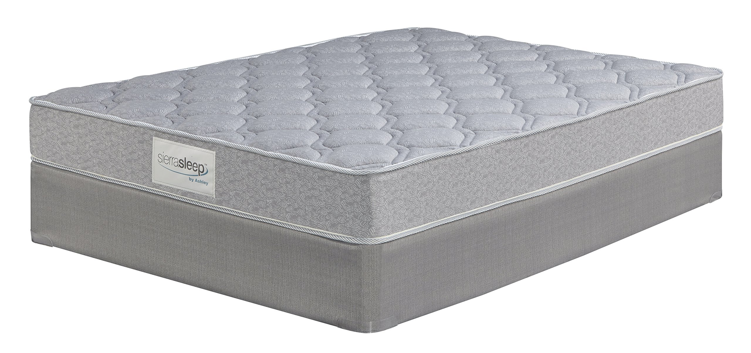 Ashley Furniture Signature Design - Sierra Sleep - Silver Ltd. Firm Tight Top Mattress - Traditional Queen Size Mattress - White