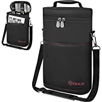 OPUX Insulated 2 Bottle Wine Tote Carrier | Padded Wine Cooler Bag for Travel Picnic BYOB | Portable Wine Bag with…