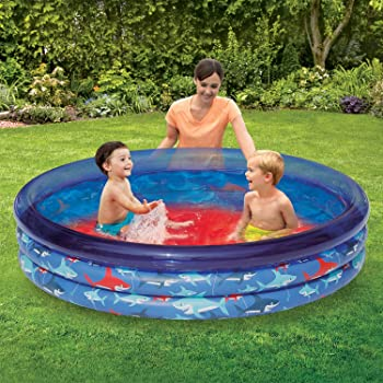 Play Day Inflatable 3-Ring Kiddie Pool