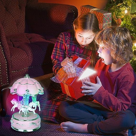 Amazon.com: J House - Caja de música con diseño de carrusel ...