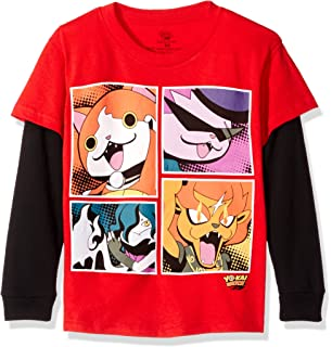 Yo Kai Watch Boys Little Boys Character Group Long Sleeve Two-Fer T