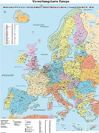 Grosse Europakarte Mit Laminierung Beschreib Und Abwischbar