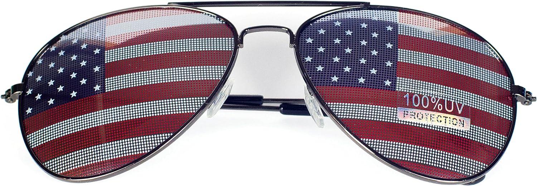 Goson American Flag Mirror Novelty Decorative Sunglasses