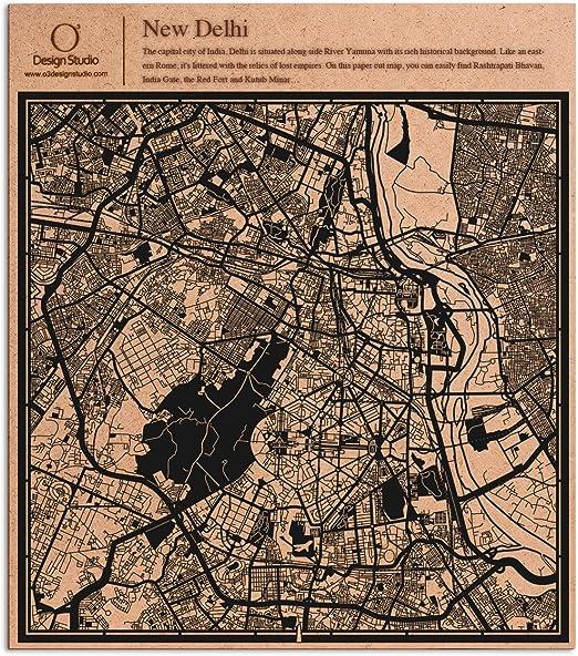 PAPER CUT MAP Perth Paper Art Original Design IDEAL GIFTS 12 12In.