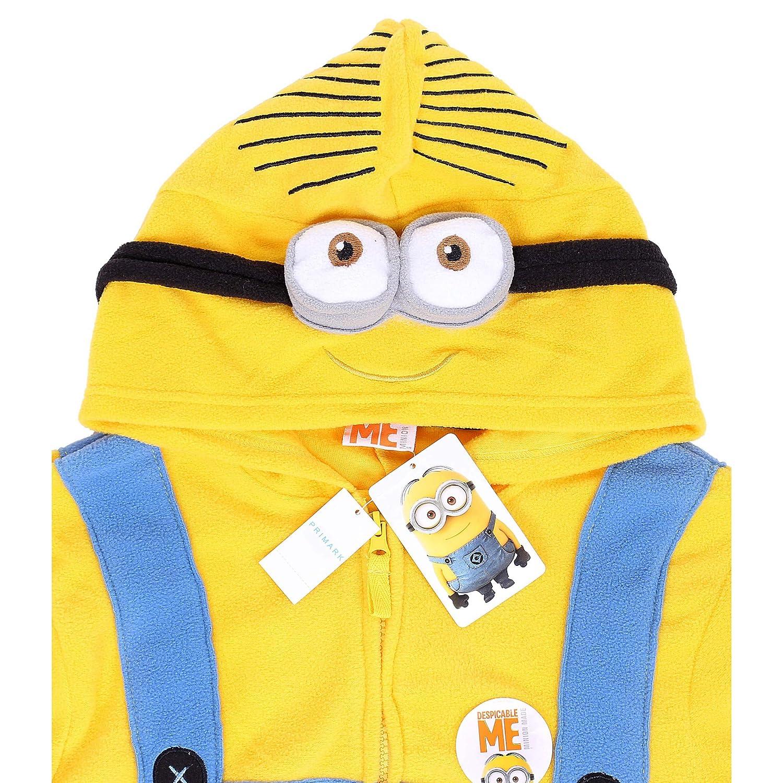 Primark - Pijama de una Pieza - para Hombre Blue - Yellow Small: Amazon.es: Ropa y accesorios