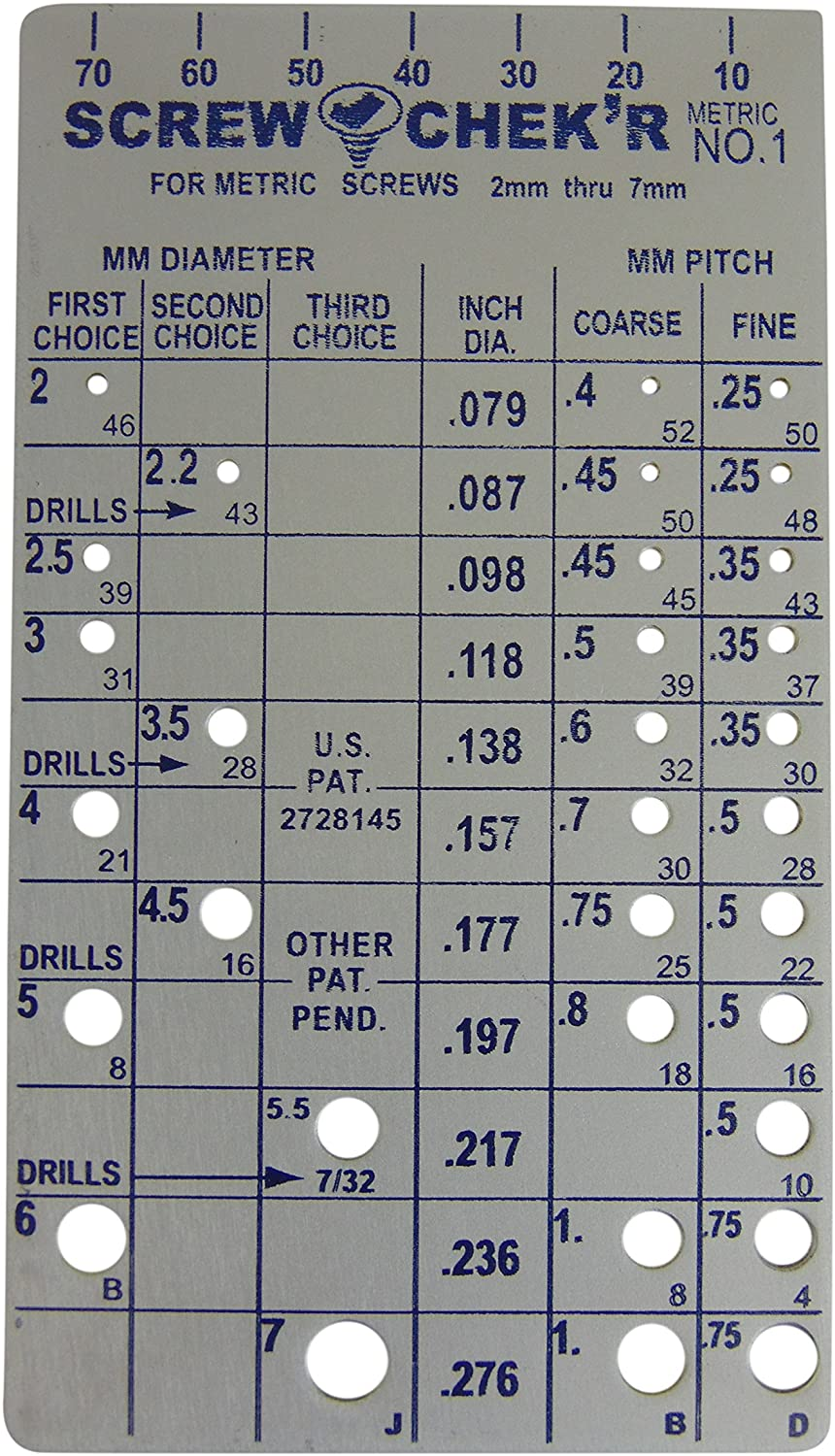 """Made is USA PEC Fractional drill index 1//16/""""-1//2/"""""""
