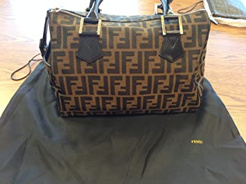 Amazon.com  Fendi Womens Doctor Duffle Bag in Brown Zucca Red ... de8c5bc79