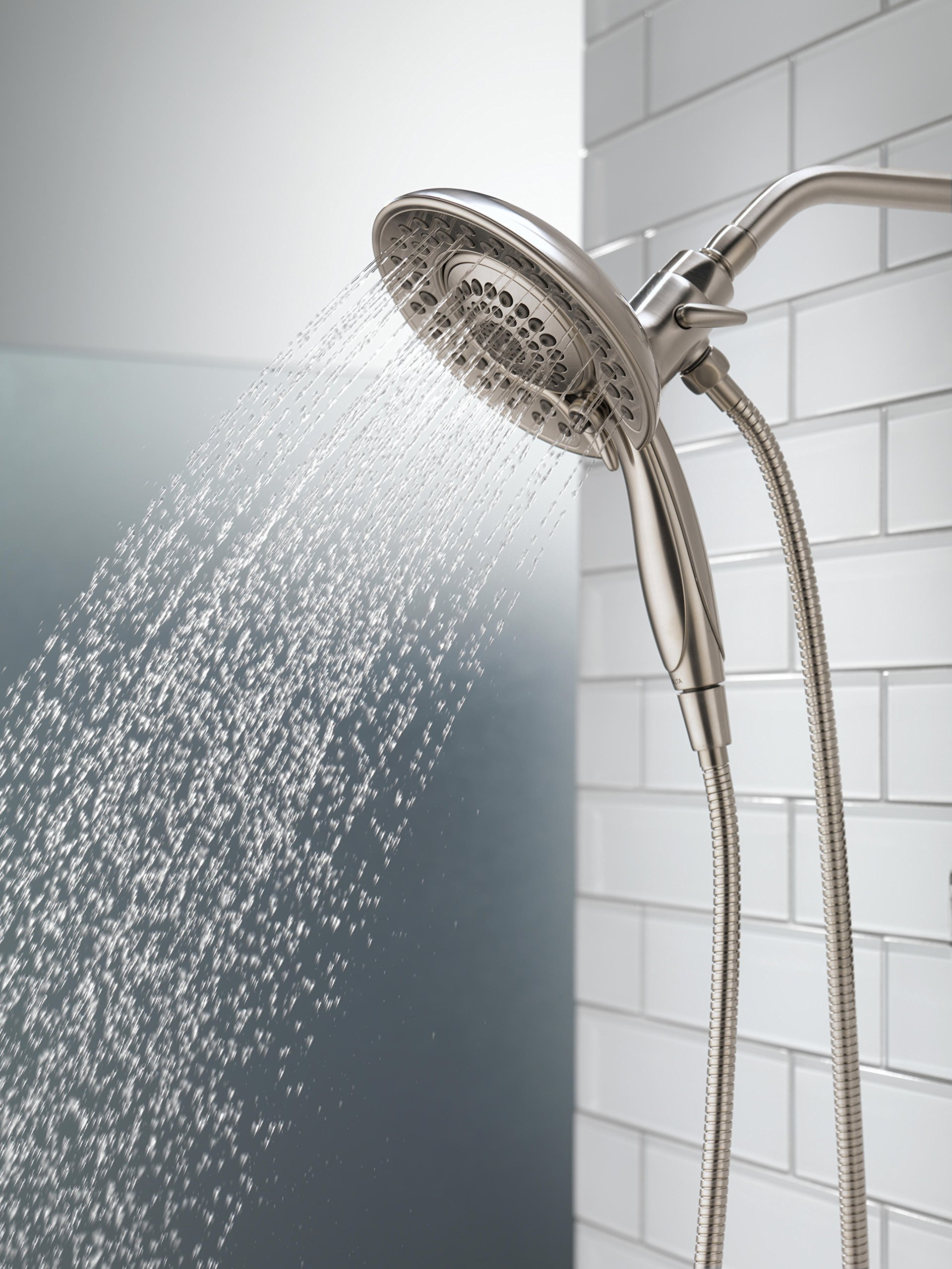 Delta 58569-SS-PK 5-Spray Touch Clean In2ition 2-in-1 Hand Held Shower Head with Hose, Stainless by DELTA FAUCET (Image #7)