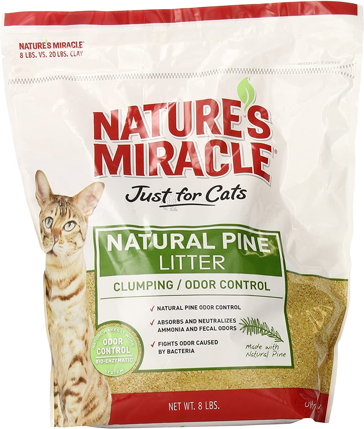 Nature's Miracle Natural Pine Clumping Litter