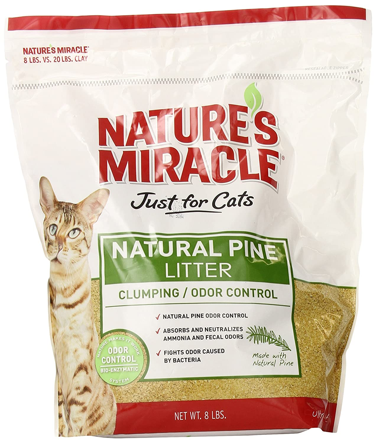 Nature's Miracle Natural Pine Clumping Litter 8 Pound P 5362