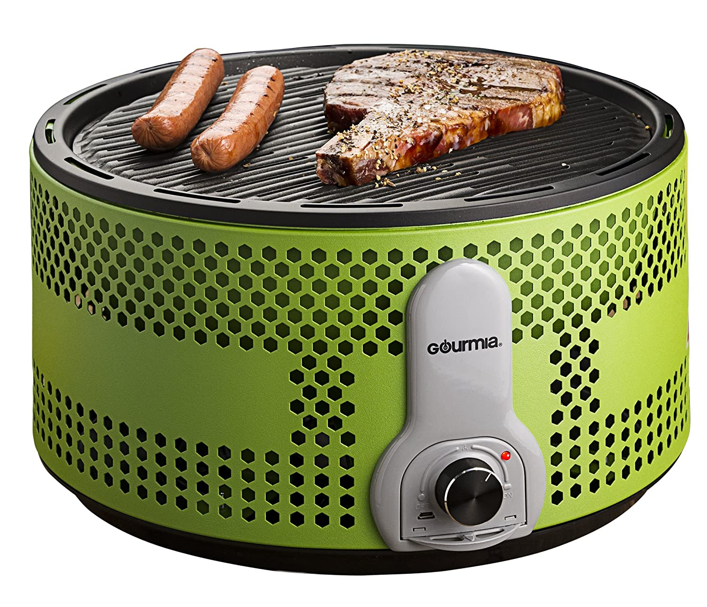 Amazon Gourmia GBQ330 Portable Charcoal Electric BBQ Grill