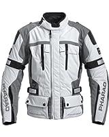 Motorradjacke Pharao Textil/Leder für Herren M-XXL | leichte Tourenjacke mit Schulter- und Ellenbogenprotektoren