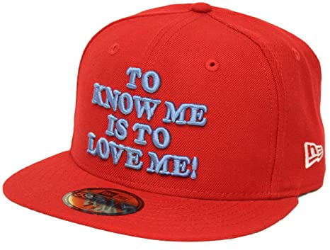 5df3d009fd5 New Era 59Fifty Linus To Know Me Is To Love Me Red Fitted Cap at ...