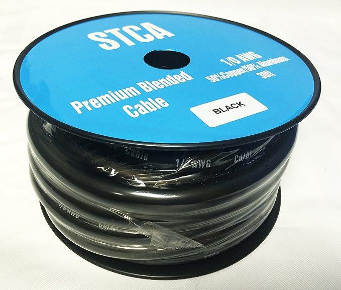 Amazon.com: Showtime STCA-1-Black30 30? Feet 1/0 0 AWG Gauge Black ...