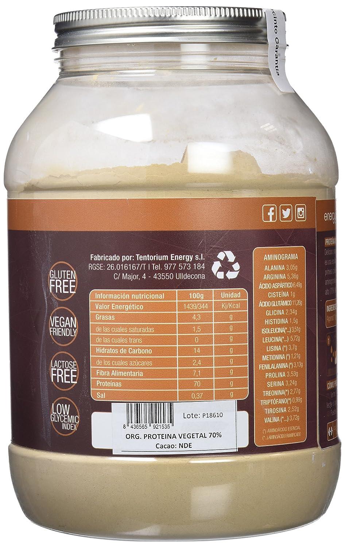 Energy Feelings Proteína Vegetal 70% sabor Cacao control de peso - 1,5 Kg: Amazon.es: Salud y cuidado personal