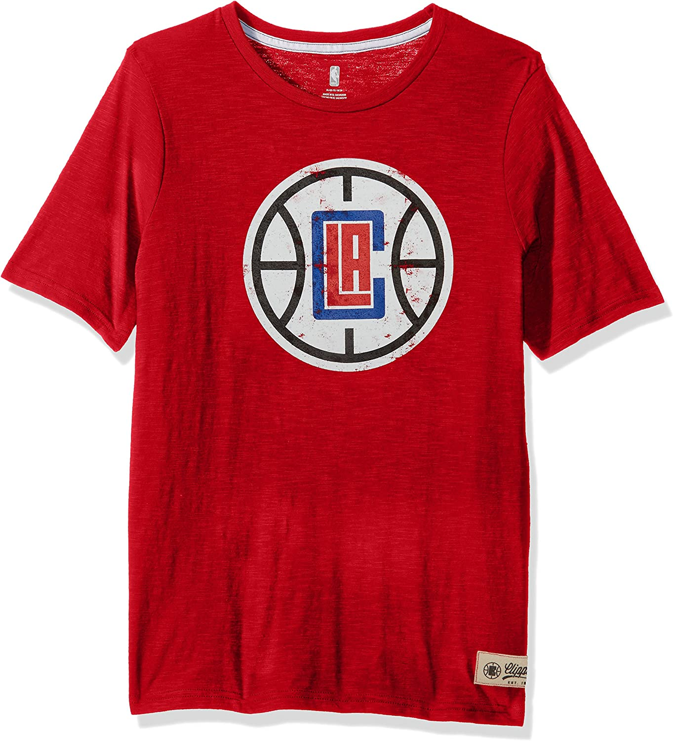 NBA Kids /& Youth Boys Standard Short Sleeve Tee Los Angeles Clippers-Red-M 5-6