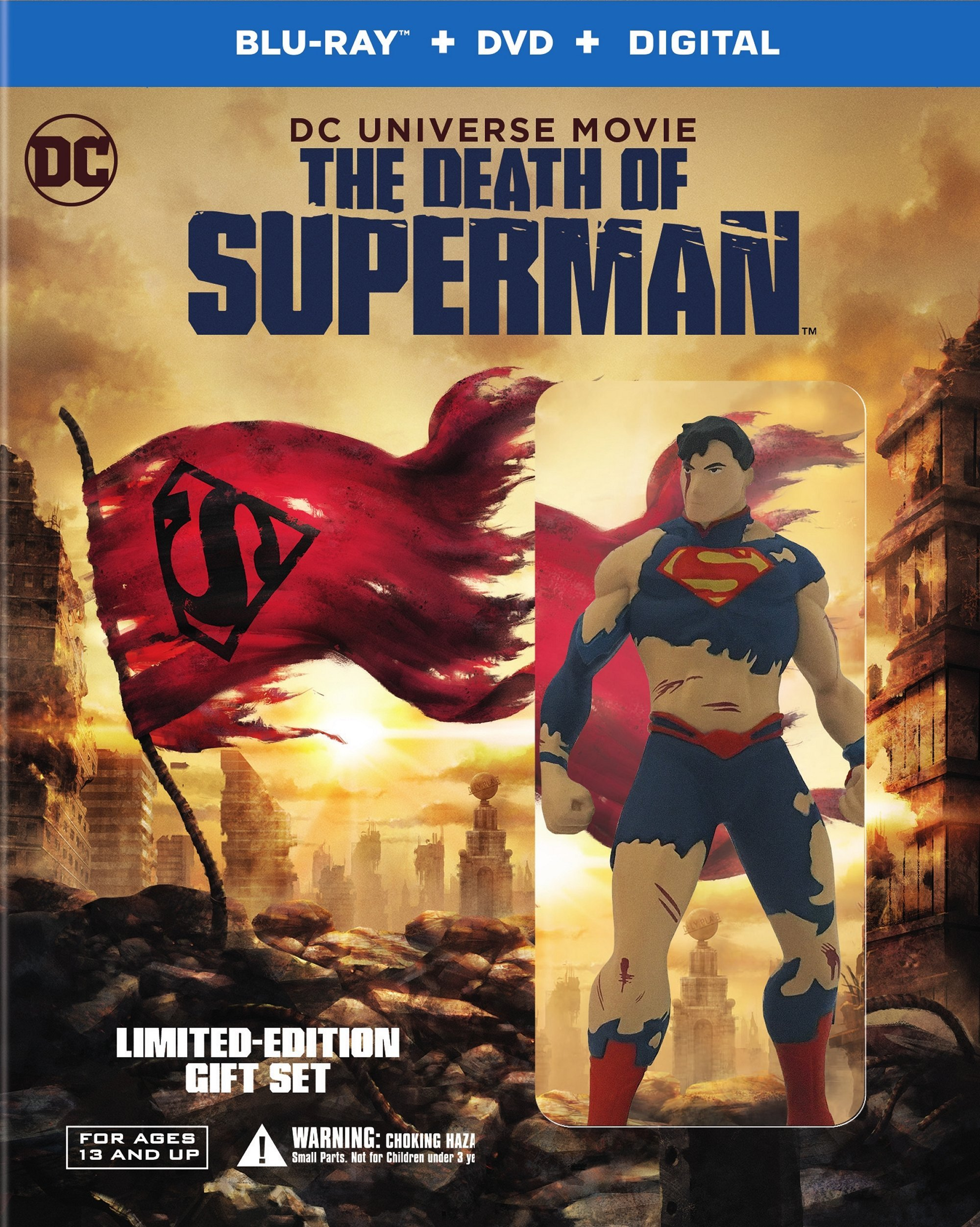 Blu-ray : Dcu: The Death Of Superman (With Blu-Ray, Limited Edition, Deluxe Edition, Figure, 2 Pack)