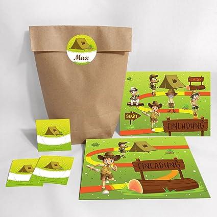 JuNa-Experten 6 tarjetas de invitación para cumpleaños ...