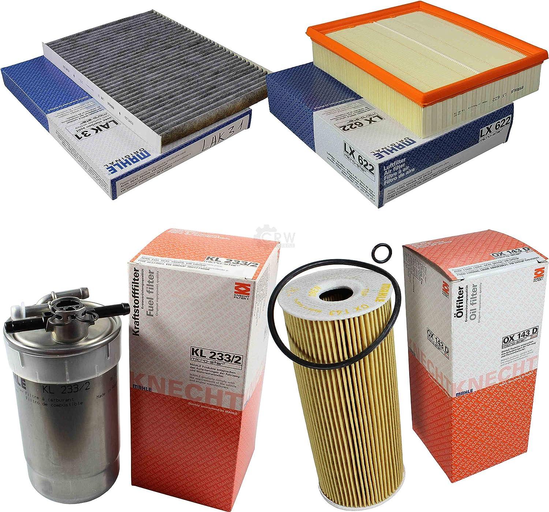 Mahle Inspektions Set Inspektionspaket Innenraumfilter Kraftstofffilter Luftfilter Ölfilter Auto