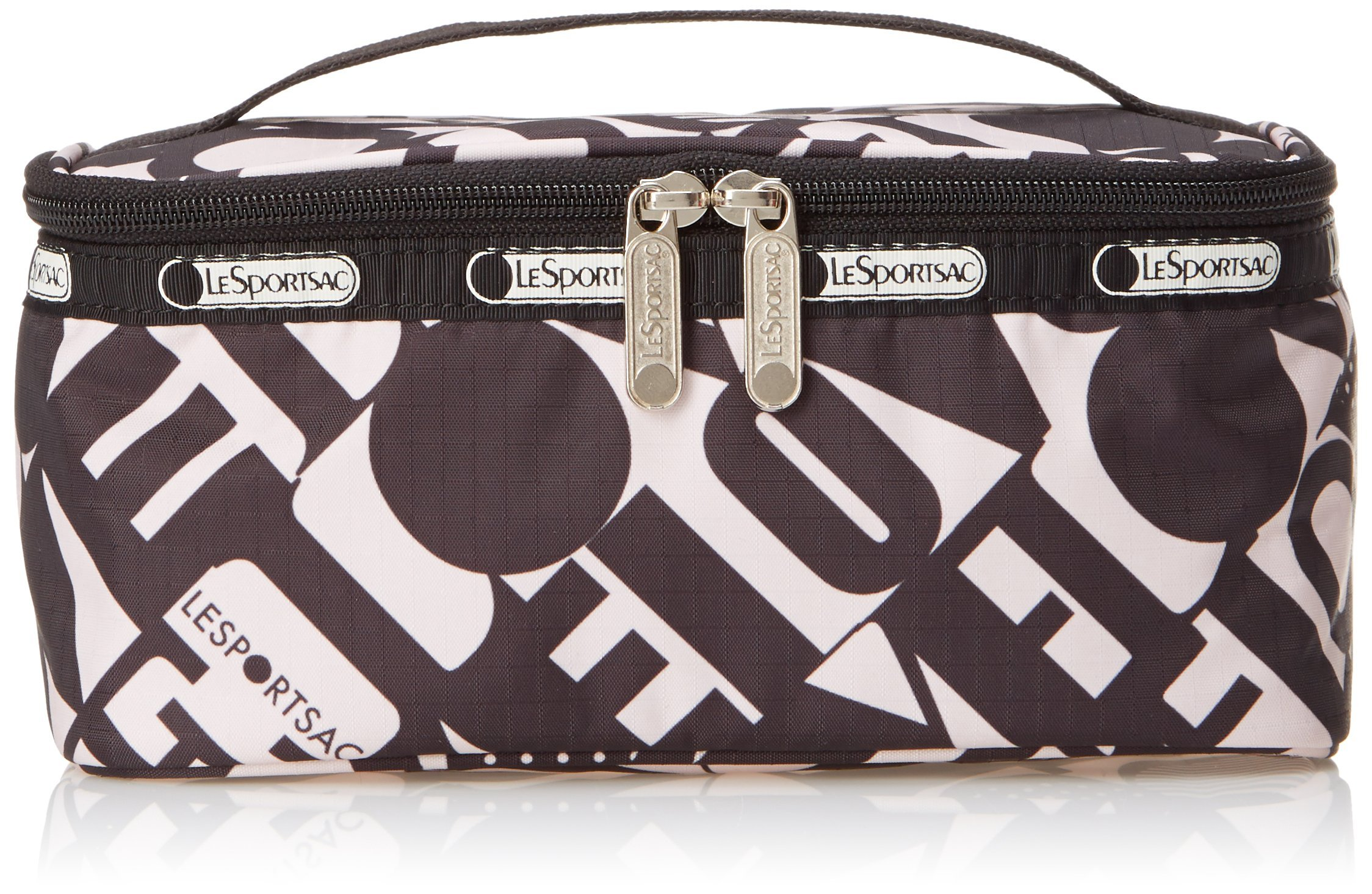 LeSportsac Rectangular Train Case Cosmetic Bag, Love Is Bold, One Size