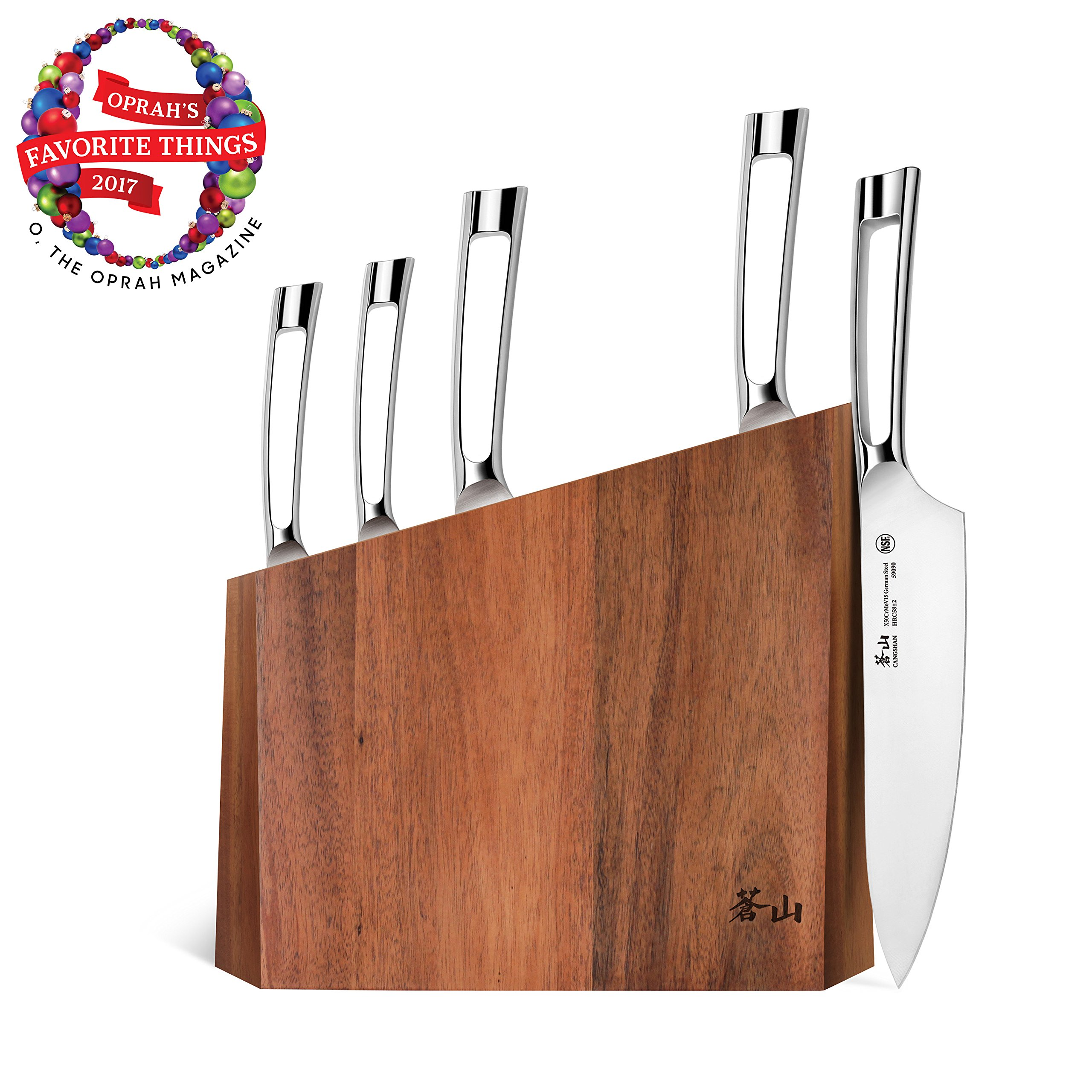 Cangshan N1 Series 59205 6-Piece German Steel Forged Knife Block Set, Oprah's Favorite Things 2017 by Cangshan