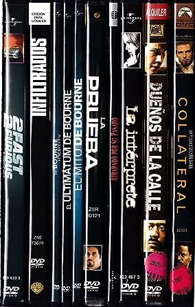 PACK 10 DVD Películas de segunda mano (THRILLER): Amazon.es: Cine ...