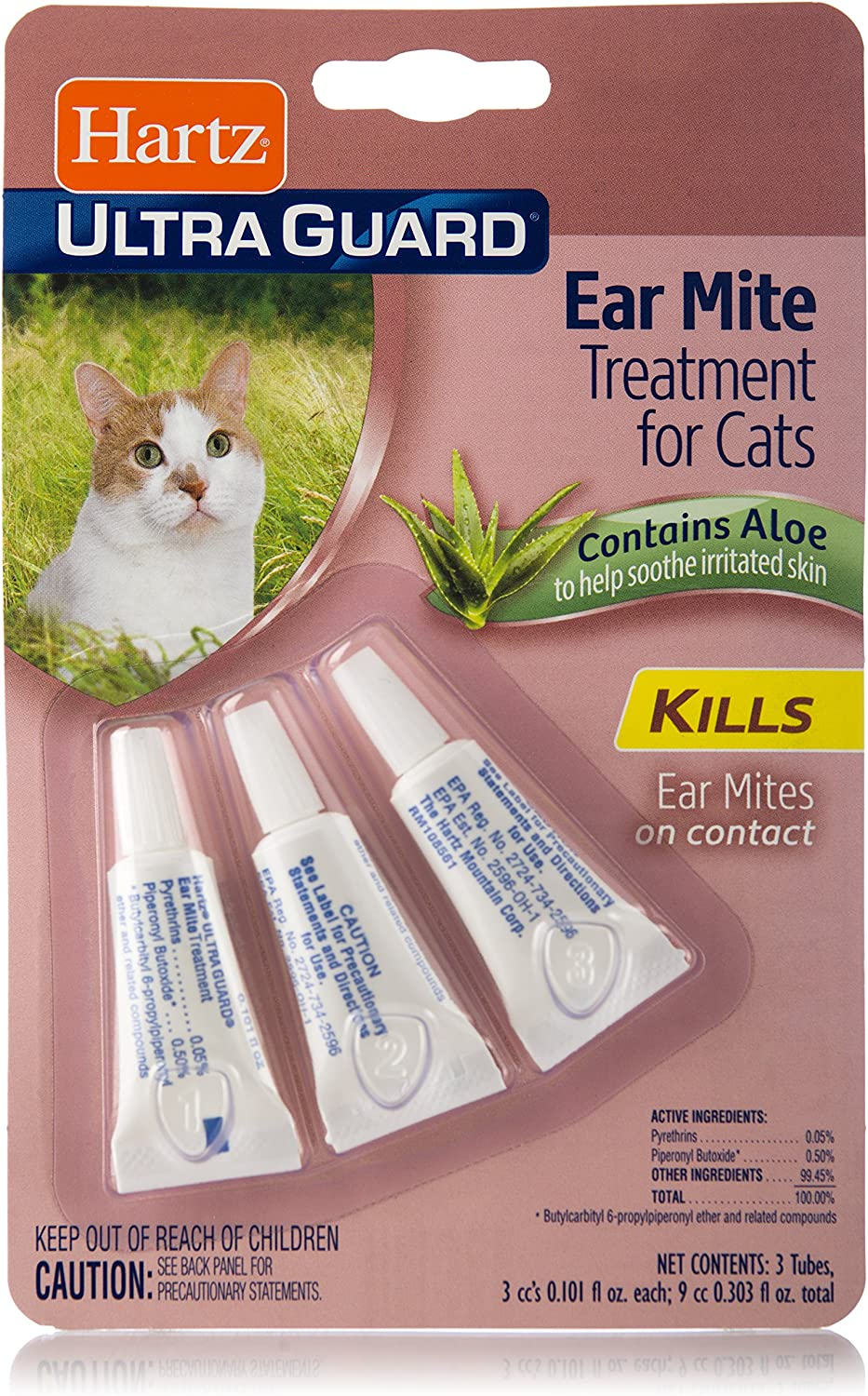 Hartz UltraGuard Ear Mite Treatment for Cats: Pet Supplies