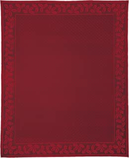 """product image for Heritage Lace Holly Vine Rectangle Tablecloth, 70"""" by 108"""", Red"""