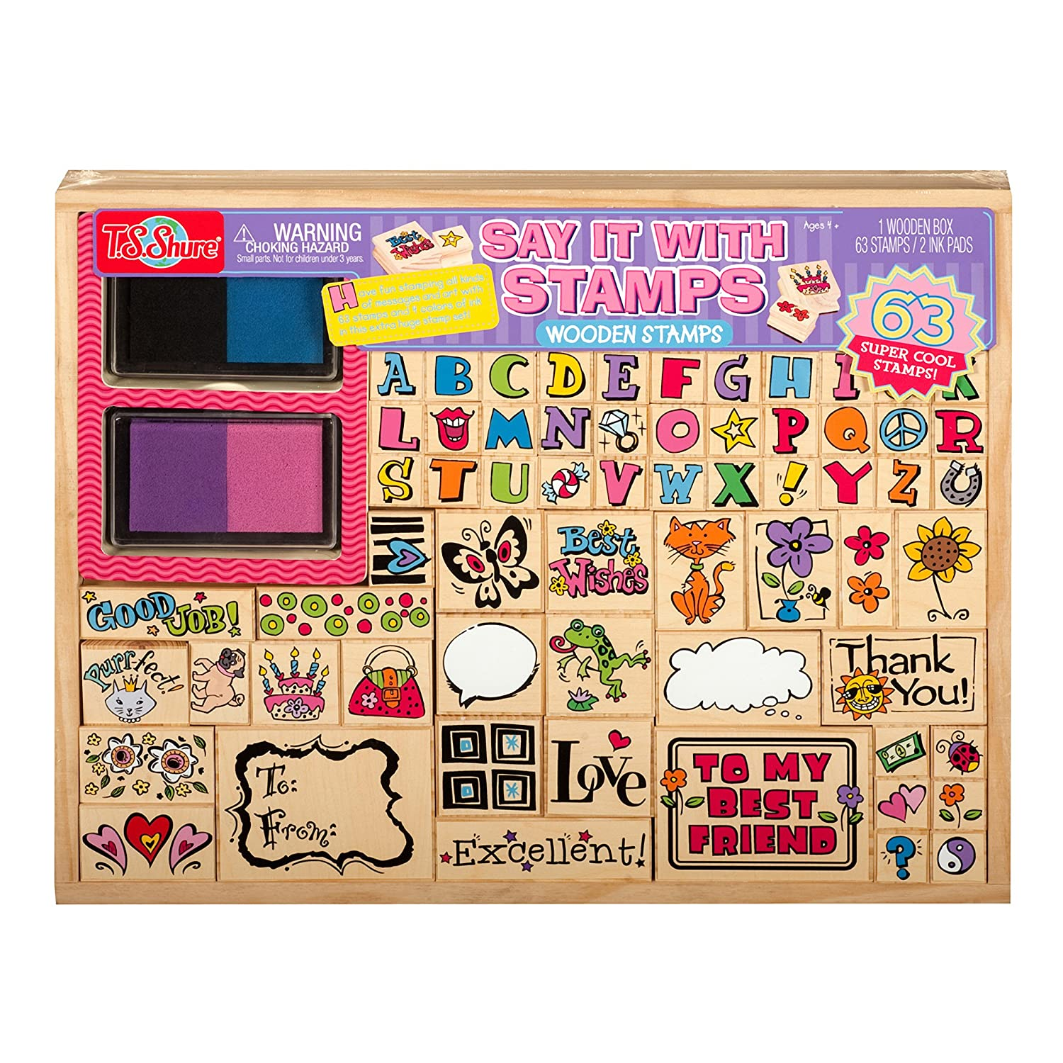 Shure Say It with Stamps Wooden Stamp Set T.S