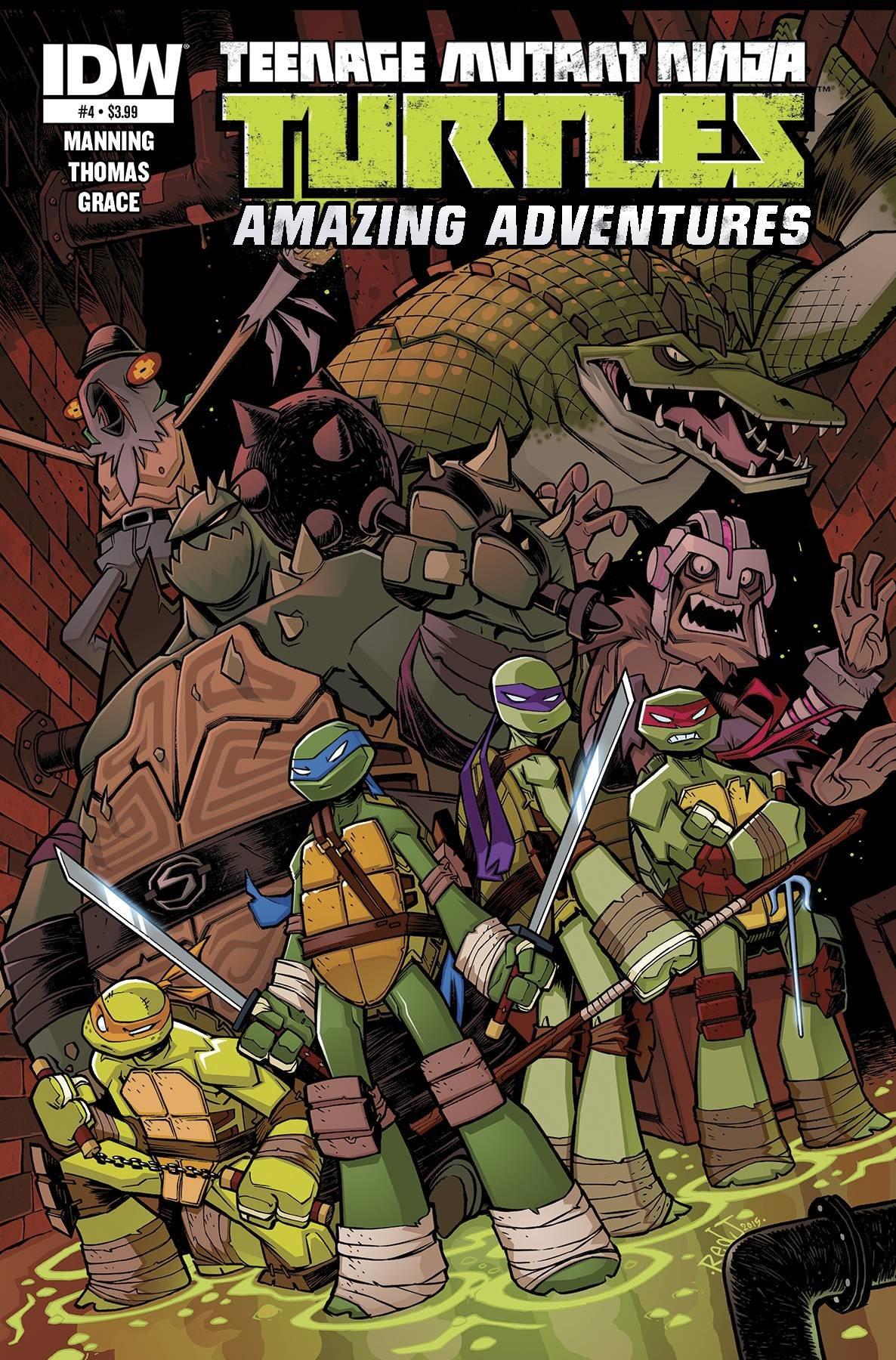 TEENAGE MUTANT NINJA TURTLES AMAZING ADVENTURES #4: Amazon ...