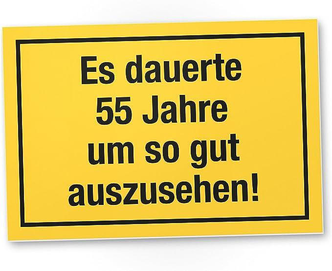 DankeDir! 55 Jahre - Gutes Aussehen, Kunststoff Schild - Geschenk 55. Geburtstag, Geschenkidee Geburtstagsgeschenk Fünfundfünfzigsten, Geburtstagsdeko/Partydeko / Party Zubehör/Geburtstagskarte