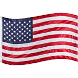 RamPro 3x5 ft. American Flag, Premium Quality 200 Denier Solarmax All-Weather Nylon, Embroidered Stars, Sewn Stripes, Brass Grommets, Clearly Visible USA Flag, Old Glory, Flag of the United States
