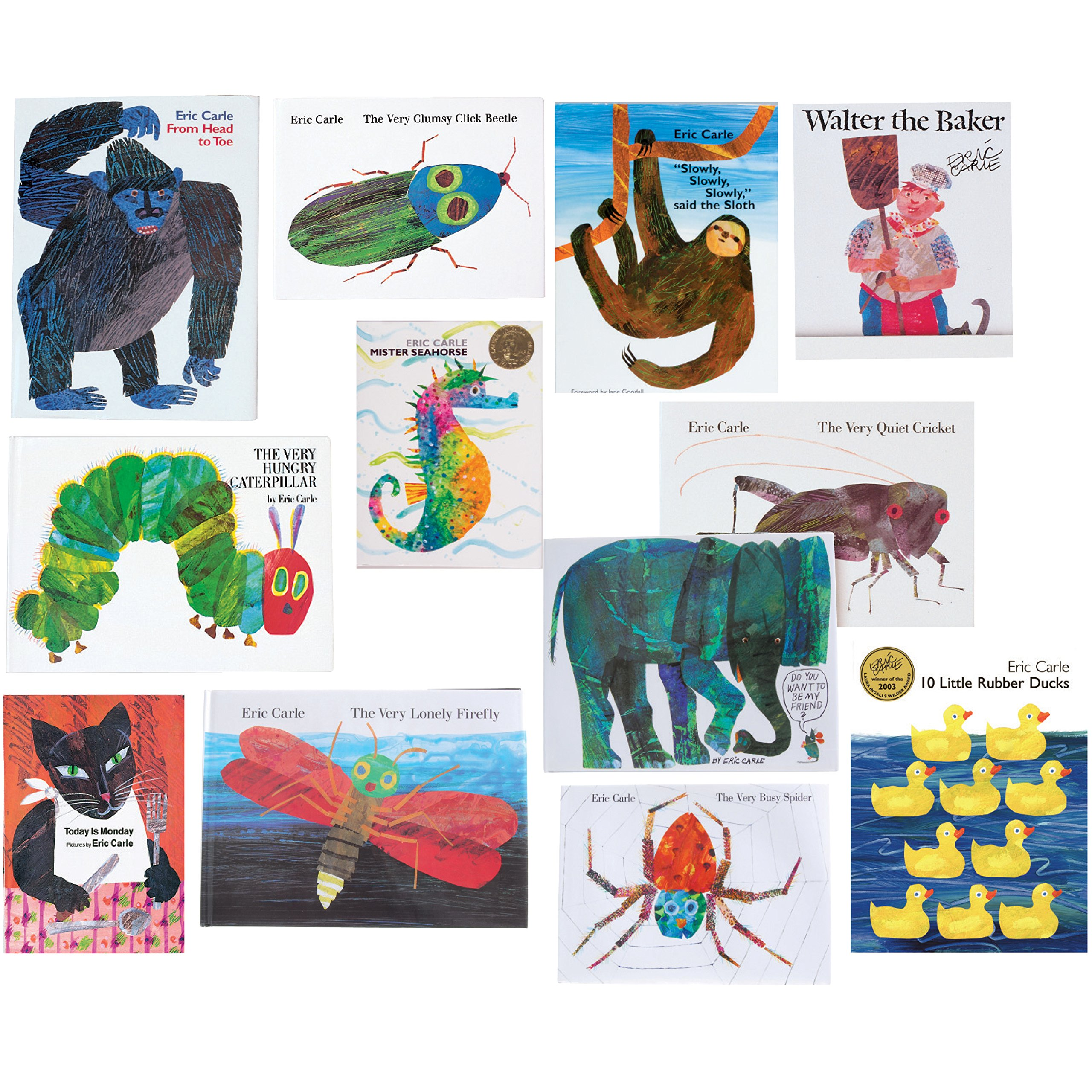 Constructive Playthings BOK-12 The Complete Eric Carle Collection Hardcover Books, Grade: Kindergarten to 1, Set of 12